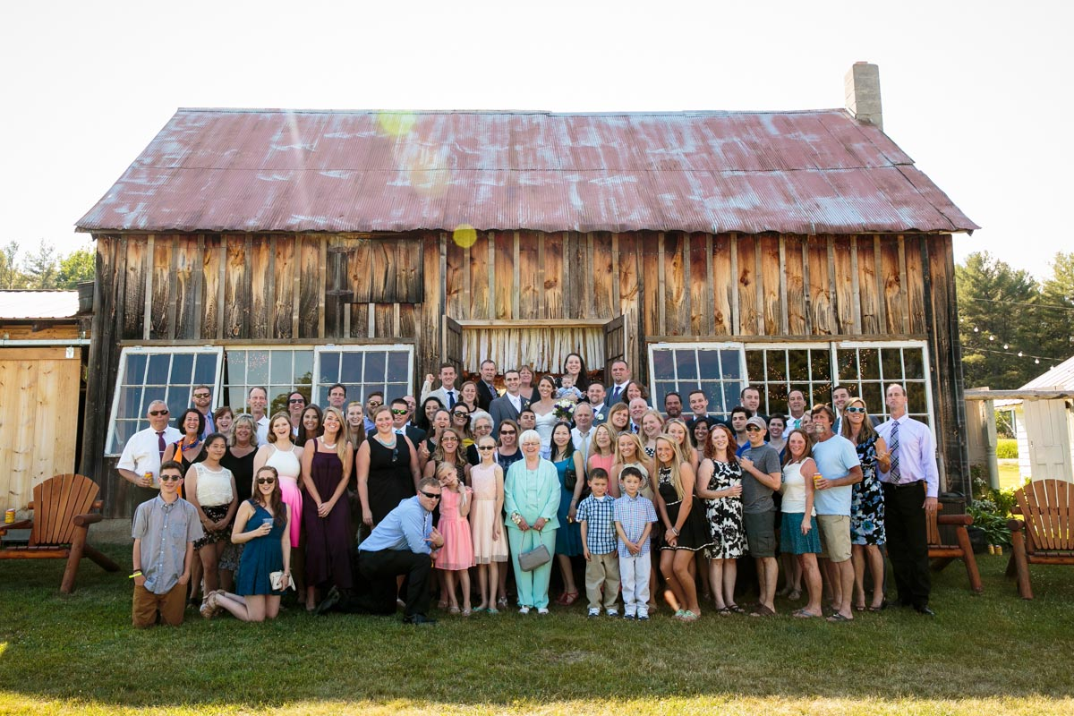 Burlap and Beams Wedding